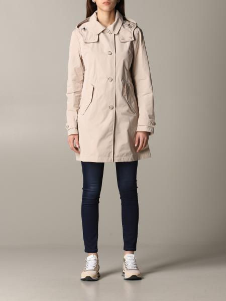 Woolrich trench coat with nylon hood