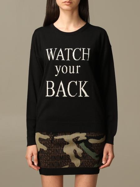 Pullover Watch your Back Boutique Moschino in misto lana Vergine