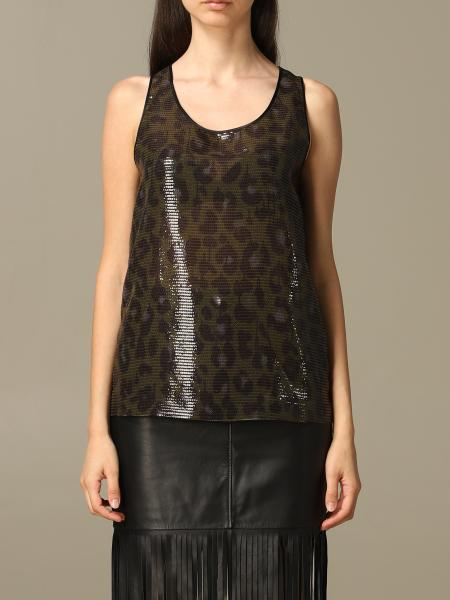 Top Boutique Moschino di paillettes animalier