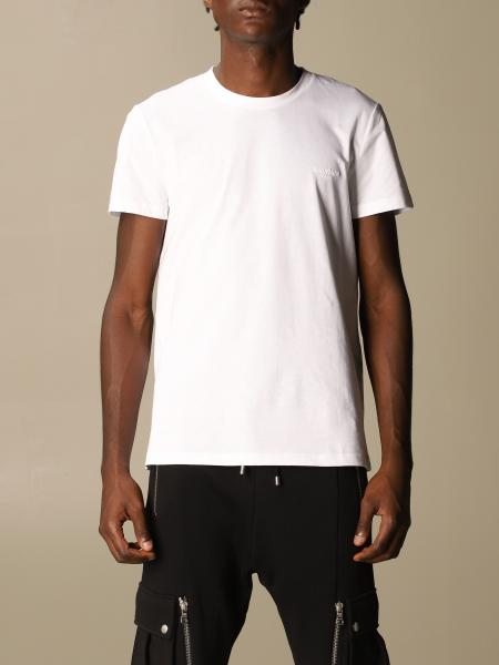 Balmain cotton T-shirt with flocked logo
