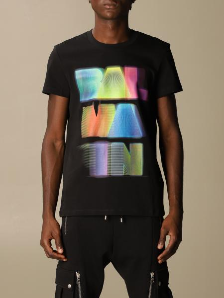 Balmain cotton T-shirt with neon logo