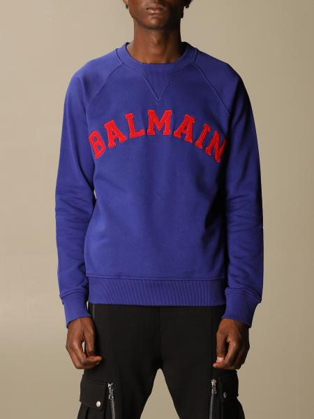 Balmain cotton sweatshirt with logo