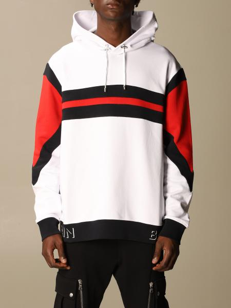 Balmain sweatshirt with logo and hood