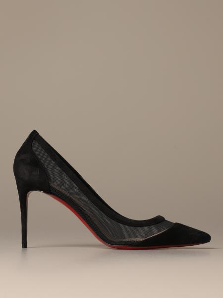 Christian Louboutin Galativi pumps in micro mesh and suede