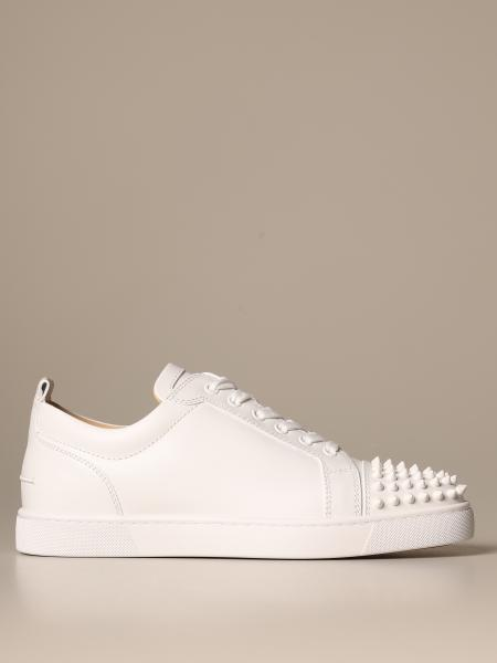 Sneakers Louis Junior Christian Louboutin in pelle con borchie