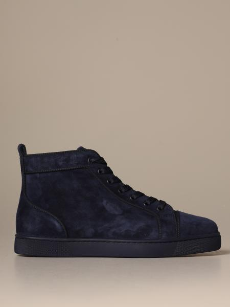 Louis Christian Louboutin suede sneakers