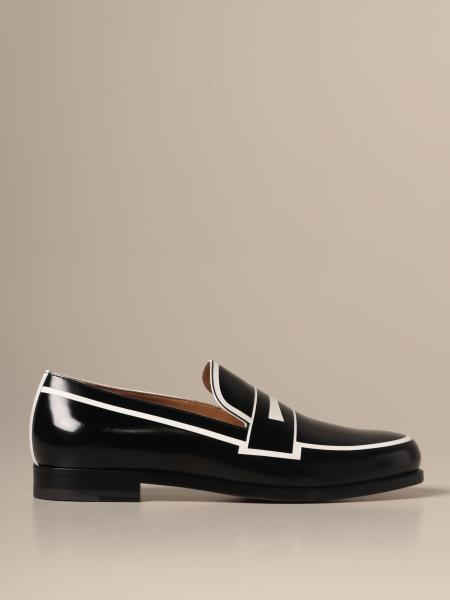 Christian Louboutin leather moccasin with sleeper print