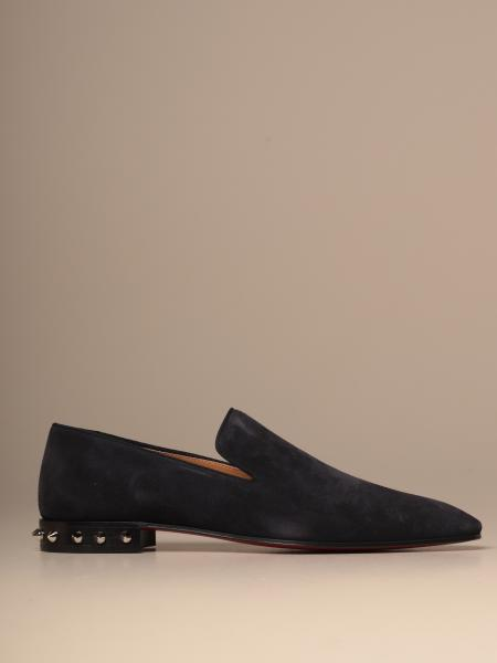 Christian Louboutin moccasin in suede with spikes heel