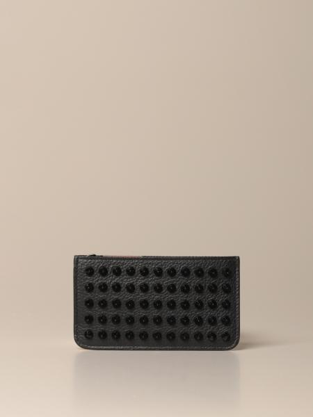 Credilou Christian Louboutin credit card holder in leather with studs