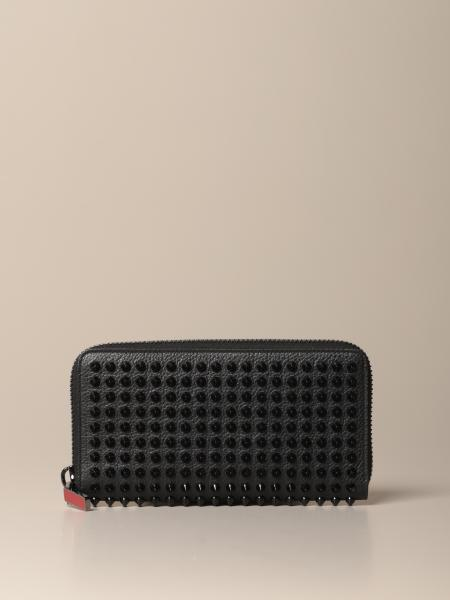 Panettone Christian Louboutin wallet with all over studs