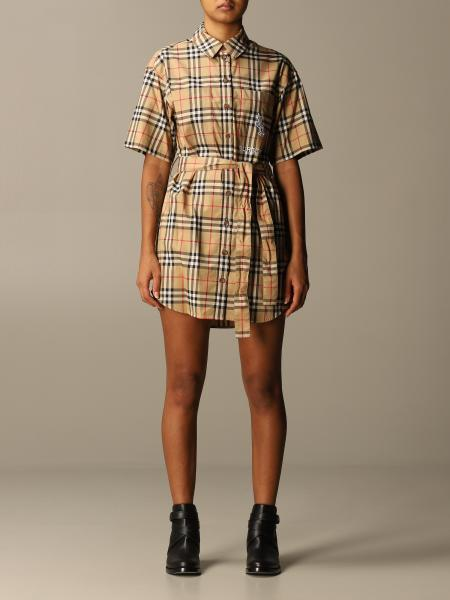 Rachel shirt dress Burberry in vintage check cotton