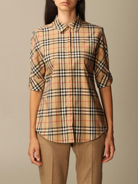 Luka Burberry shirt in cotton twill with vintage check pattern