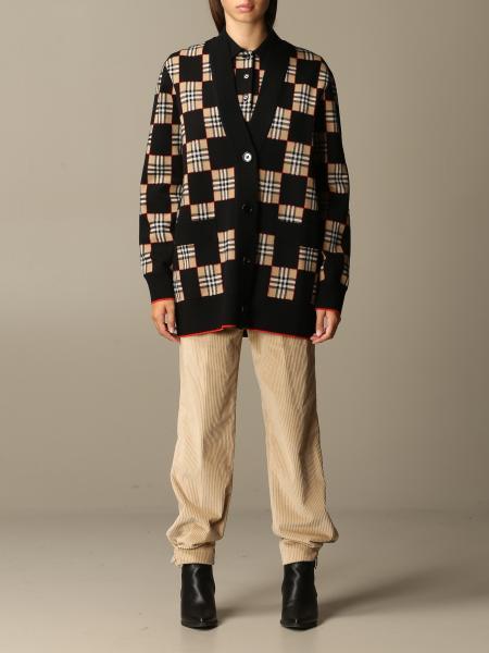 Burberry cardigan in check Merinos wool blend