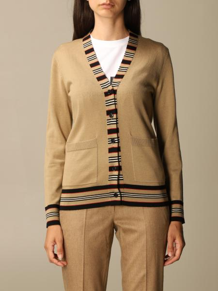 Burberry cardigan in Merinos wool with striped pattern
