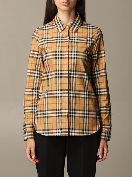 Oversized Burberry shirt in cotton with vintage check pattern