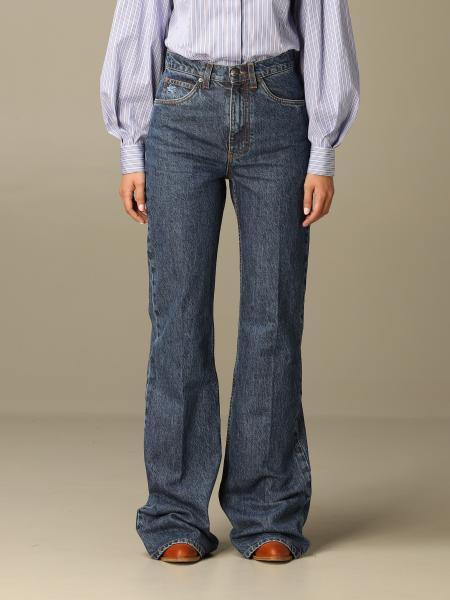 Jeans Etro in denim stretch a zampa