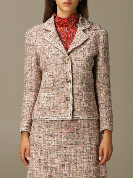 Etro tailored jacket in wool and bouclé cotton