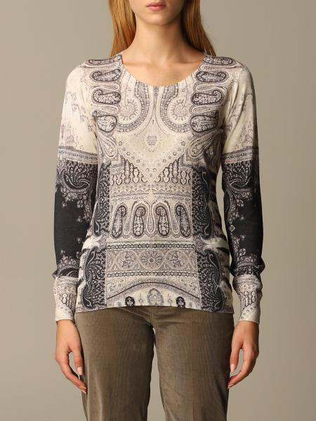 Etro women: Etro sweater in paisley silk and cashmere