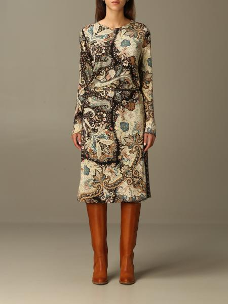 Etro printed jersey dress with belt
