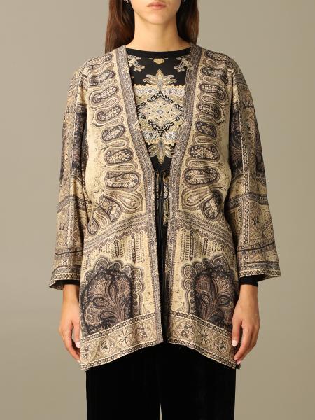 Giacca a kimono Etro in lana con stampa cashmere