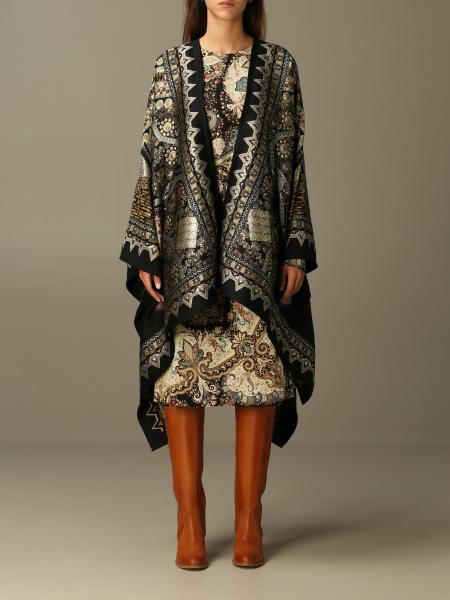 Etro cape in jacquard wool
