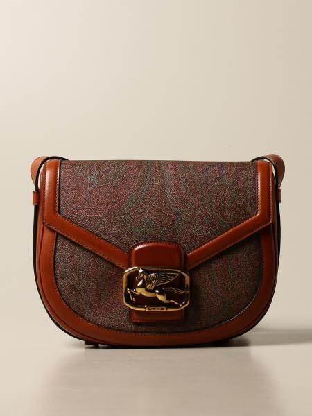 Etro: Pegaso Etro shoulder bag in paisley leather