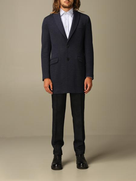 Etro classic coat in micro-operated wool