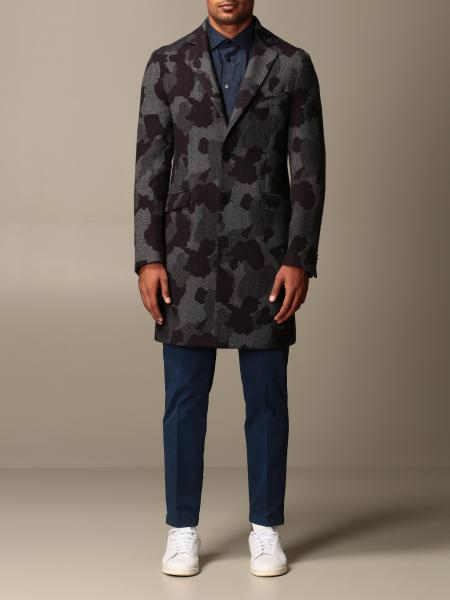 Etro coat in camouflage wool