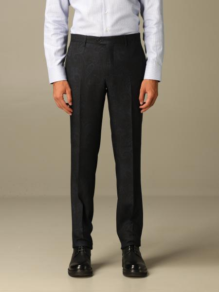 Etro paisley wool trousers