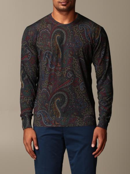 Etro sweater in paisley silk and cashmere