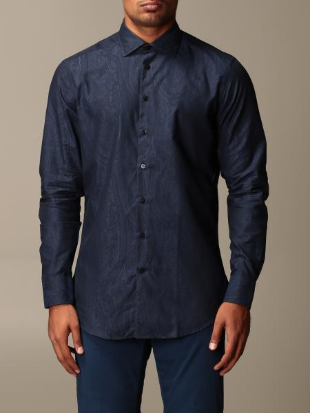 Etro shirt in paisley cotton