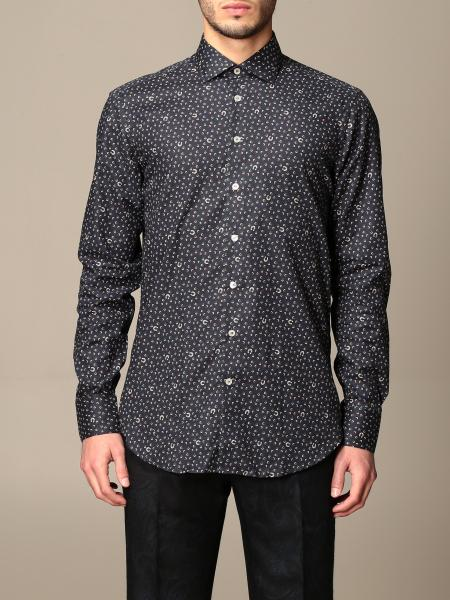 Etro shirt in cotton with all over upholstery