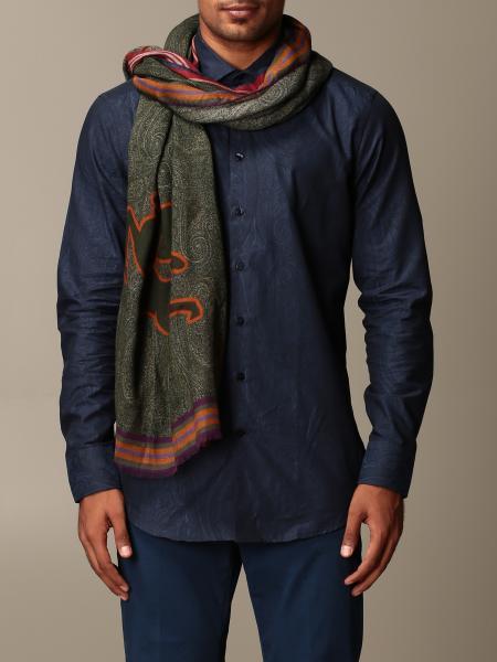 Etro modal and cashmere scarf with Pegaso logo