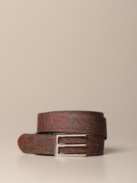 Etro belt in jacquard paisley fabric