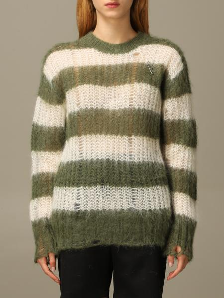 Golden Goose: Golden Goose pullover in wool and Mohair blend with safety pins
