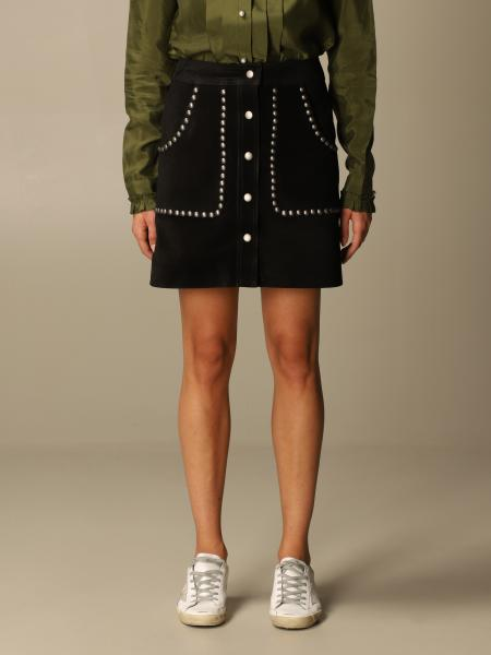 Golden Goose: Golden Goose mini skirt in suede with studs
