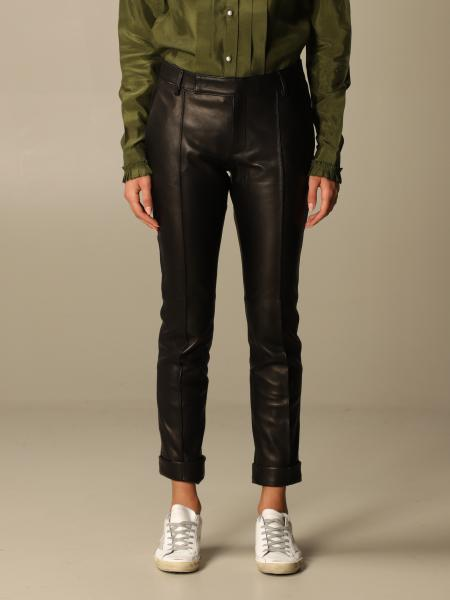 Golden Goose: Golden Goose trousers in skinny fit leather