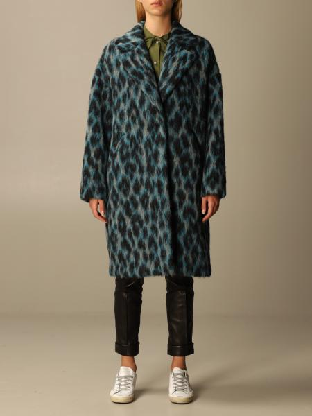 Golden Goose: Golden Goose coat in animal print synthetic fur