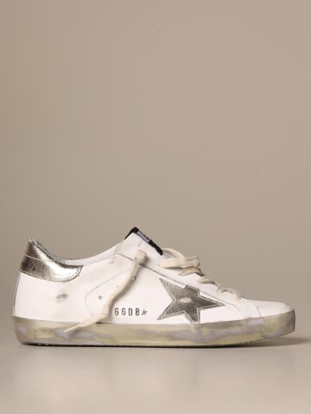 Golden Goose Superstar classic sneakers with laminated star