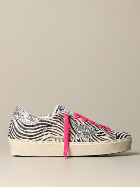 Golden Goose Hi Star zebra sneakers