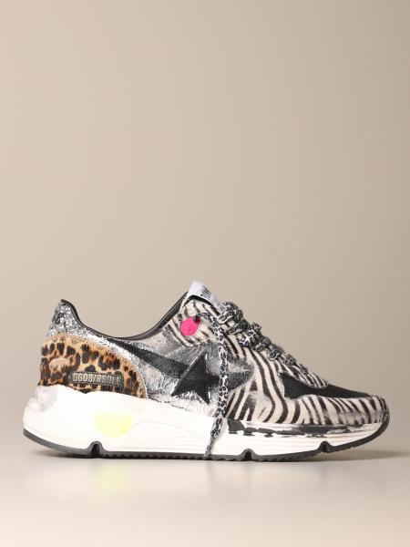 Golden Goose sole sneakers in striped pony
