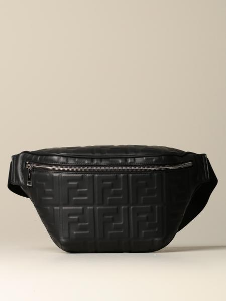 Fendi nappa leather belt bag with embossed FF monogram