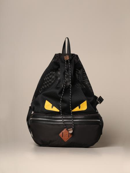 Fendi belt bag / backpack in nylon and mesh with Bag Bugs eyes