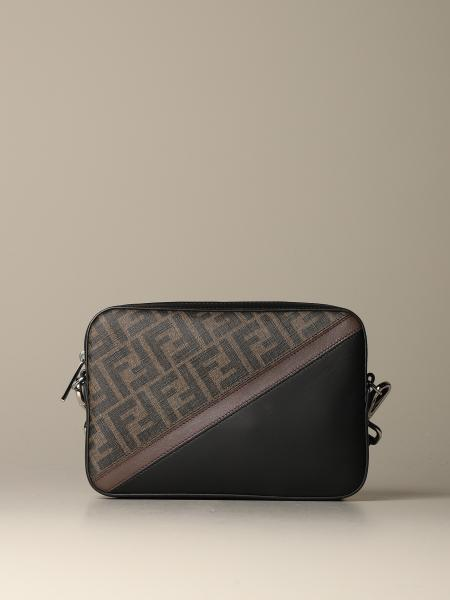Fendi camera case bag in Fendi FF printed leather