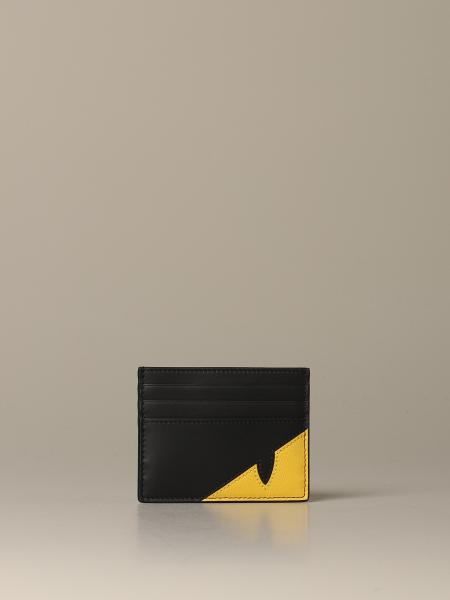 Fendi credit card holder in leather with Bugs motif