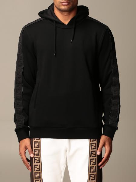 Fendi cotton sweatshirt with logoed bands