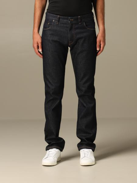 Jeans Fendi regular fit in denim con tasca FF