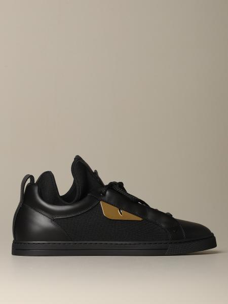 Fendi sneakers in leather and fabric with Bag Bugs eyes