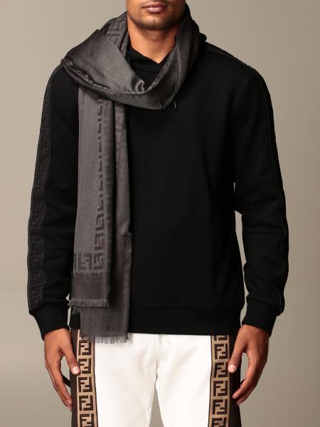 Fendi wool and silk scarf with FF logo
