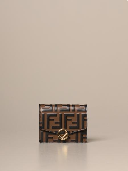 Micro Fendi leather bag with embossed FF logo